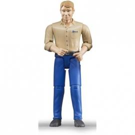 BRUDER bworld - Mann mit hellem Hauttyp und blauer Hose