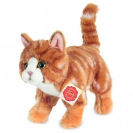 Teddy-Hermann - Katze stehend rot getigert 20 cm