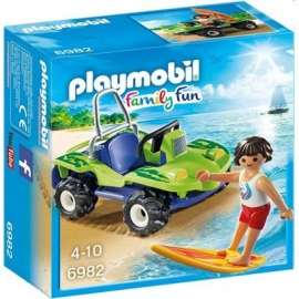 PLAYMOBIL® 6982 - Family Fun - Surfer mit Strandbuggy
