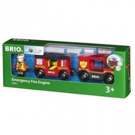 BRIO Bahn - Feuerwehr-Leiterfahrzeug mit Licht und Sound