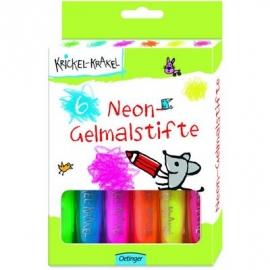 Oetinger - Krickel-Krakel Neon-Gelmalstifte