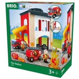 BRIO Bahn - Große Feuerwehr-Station mit Einsatzfahrzeug