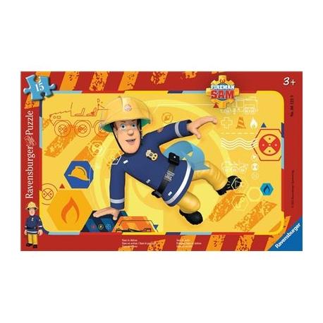 Ravensburger Puzzle - Feuerwehrmann Sam in Aktion, 15 Teile