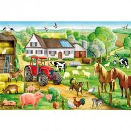 Schmidt Spiele - Puzzle - Fröhlicher Bauernhof, 100 Teile