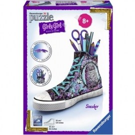 Ravensburger Puzzle - 3D Puzzles - Girly Girl Edition - Sneaker - Animal Trend, 108 Teile