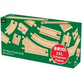 BRIO Bahn - Großes Schienensortiment 50 Teile