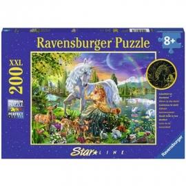 Ravensburger Puzzle - Leuchtpuzzle - Magische Feennacht, 200 Teile