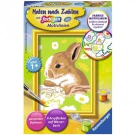 Ravensburger Spiel - Malen nach Zahlen mit farbigen Motivlinien - Häschen Flecki