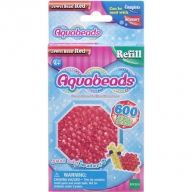 Aquabeads - Refill - Glitzerperlen, rot