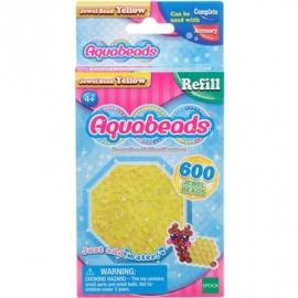 Aquabeads - Refill - Glitzerperlen, gelb