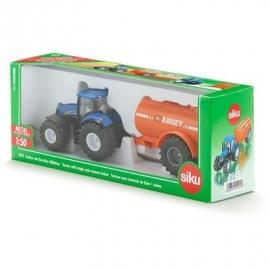 SIKU Farmer - Traktor mit Ein-Achs-Güllefass