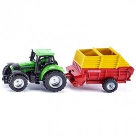 SIKU Super - Traktor mit Pöttinger Ladewagen