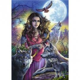 Ravensburger Puzzle - Patronin der Wölfe, 1000 Teile