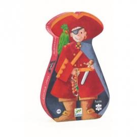 Djeco - Formenpuzzle: The pirate and his treasure - 36 pcs