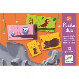 Djeco - Duo Puzzle: Mom and baby