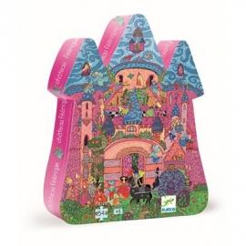 Djeco - Formenpuzzle: The fairy castle - 54 pcs