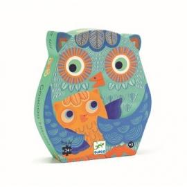 Djeco - Formenpuzzle: Hello Owl - 24 pces
