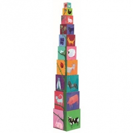 Djeco - Stapelturm: 10 nature and animal blocks