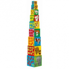 Djeco - Stapelturm: 10 my friends blocks