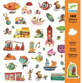 Djeco - Sticker: Lets go!
