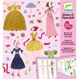 Djeco - Sticker und Puppen: Dresses through the seasons