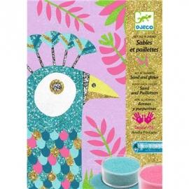 Djeco - Sandbild - Dazzling birds