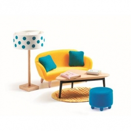 Djeco - Puppenhaus - The orange living room
