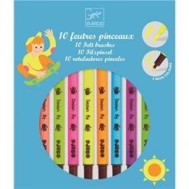 Djeco - Farben - 10 felt brushes - Pop colours