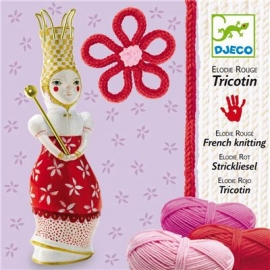 Djeco - Wolle - French knitting Elodie (red)