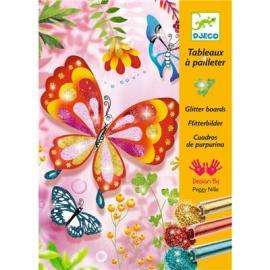 Djeco - Glitzerkarten - Butterflies