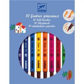 Djeco - Farben - 10 felt brushes - classic