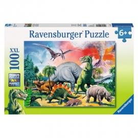 Ravensburger Puzzle - Unter Dinosauriern, 100 XXL-Teile