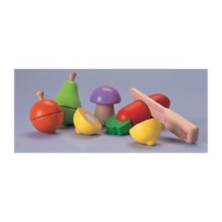 PlanToys - Obst und Gemüse schneiden