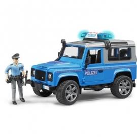 BRUDER - Land Rover Defender Station Wagon Polizeifzg.mit Polizist+Ausst.