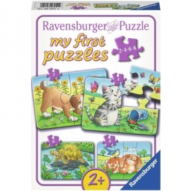 Ravensburger Puzzle - my first Puzzle - Niedliche Haustiere, 8 Teile