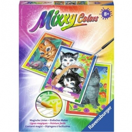 Ravensburger Malen nach Zahlen - Mixxy Colors Kätzchen