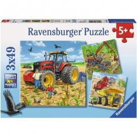 Ravensburger Puzzle - Große Maschinen, 3x49 Teile