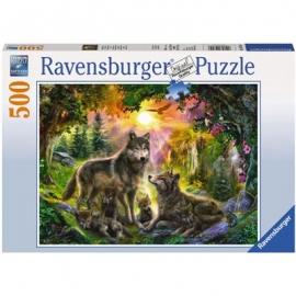 Ravensburger Puzzle - Wolfsfamilie im Sonnenschein
