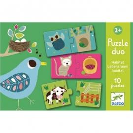 Djeco - Duo Puzzle: Habitat