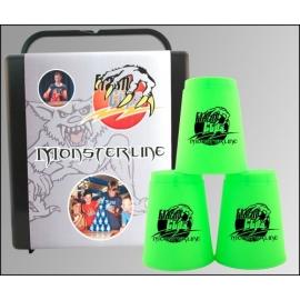 FlashCups Monsterline neongrün m. DVD