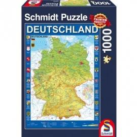 Schmidt Spiele - Deutschlandkarte, 1000 Teile