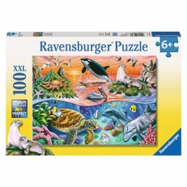 Ravensburger Puzzle - Bunter Ozean, 100 XXL-Teile