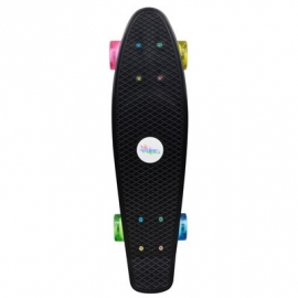 No Rules - Skateboard fun NEON mit Leuchtrollen