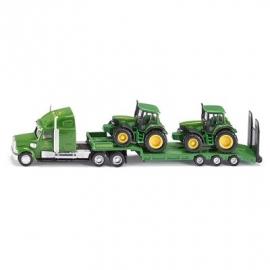 SIKU Farmer - Tieflader mit John Deere Traktoren