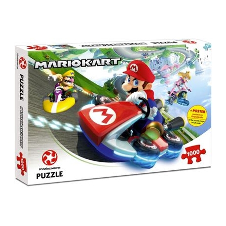 Winning Moves - Puzzle Mario Kart - Funracer, 1000 Teile