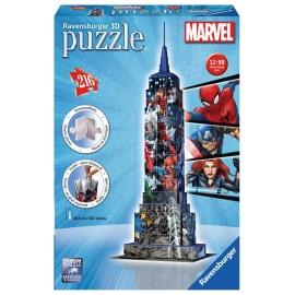Ravensburger Puzzle - 3D Puzzles - Avengers Empire State Building, 216 Teile