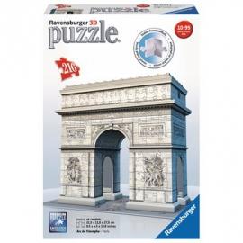 Ravensburger Puzzle - 3D Puzzles puzzleball - Triumphbogen Paris, 216 Teile