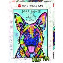 Heye - Standardpuzzle - Dogs Never Lie, 1000 Teile