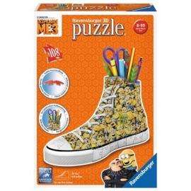 Ravensburger Puzzle - 3D Puzzles - Sneaker - Ich - einfach unverbesserlich 3, 108 Teile