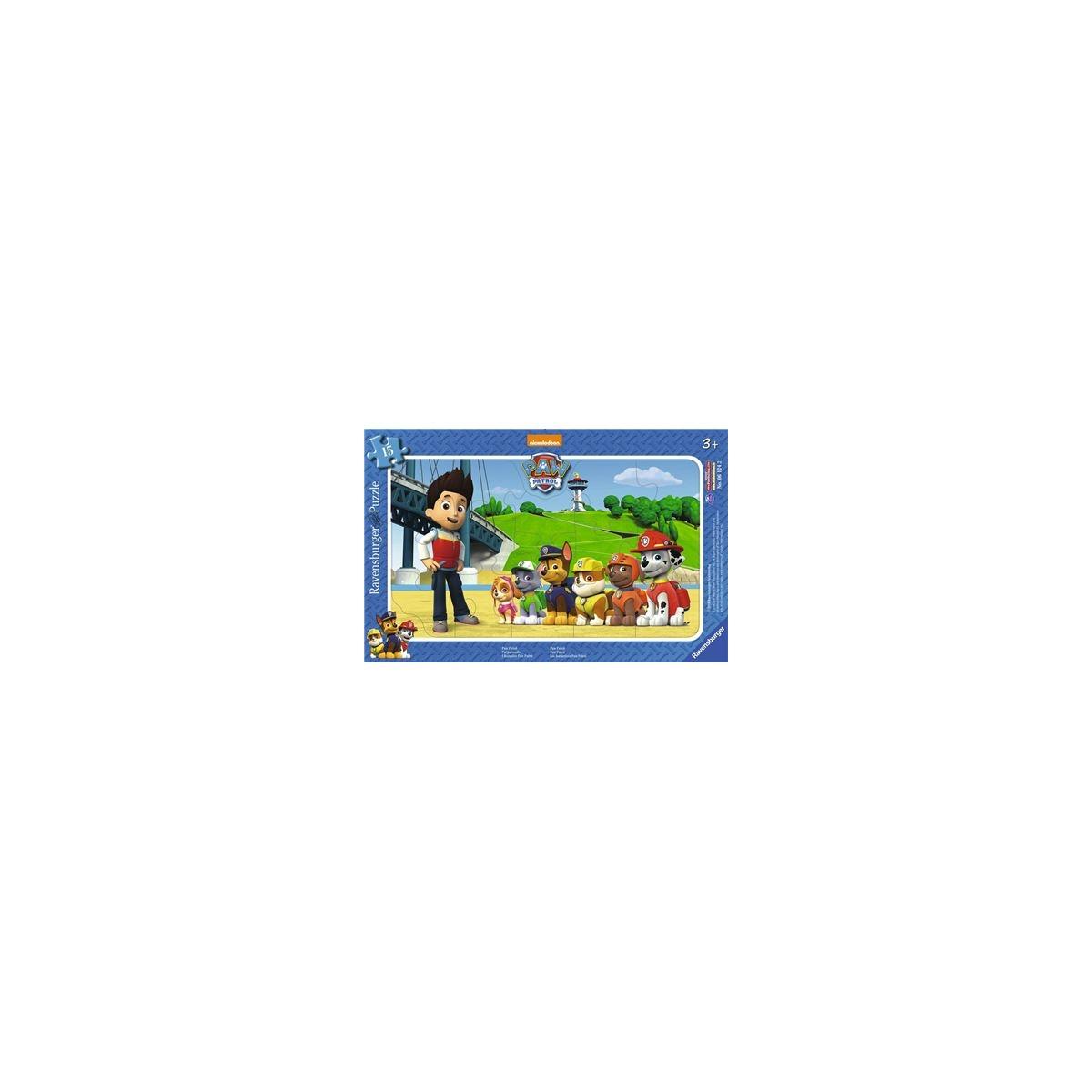 Ravensburger Puzzle - Rahmenpuzzle - Paw Patrol, 15 Teile